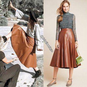 Anthropologie Skirts - RARE NWT ANTHROPOLOGIE Mariska Faux Leather Skirt